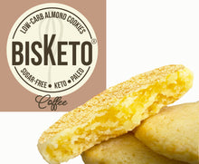 Load image into Gallery viewer, BisKeto Coffee - Low-Carb Keto Cookies - Box with 12 (6 packs of 2)