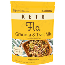 Load image into Gallery viewer, Fla Keto Low-Carb Granola & Trail Mix (Chocolate Chip) - 11oz bag (11 servings)