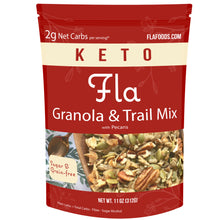 Load image into Gallery viewer, Fla Low-Carb Granola & Trail Mix (Pecans) - 11oz bag (11 servings)