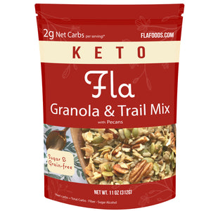 Fla Low-Carb Granola & Trail Mix (Pecans) - 11oz bag (11 servings)