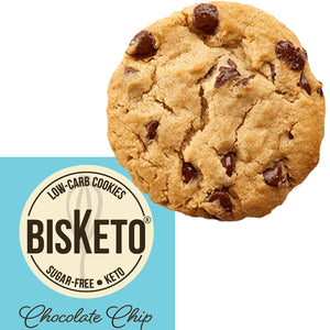 BisKeto Chocolate Chip - Low-Carb Keto Cookies - Box with 12 (6 packs of 2)