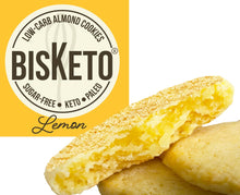 Load image into Gallery viewer, BisKeto Lemon - Low-Carb Keto Cookies - Box with 12 (6 packs of 2)