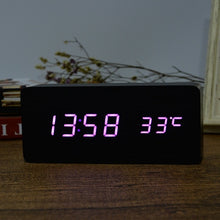 Load image into Gallery viewer, Digital LED Clock with Alarm, and temperature