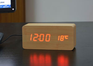 Digital LED Clock with Alarm, and temperature
