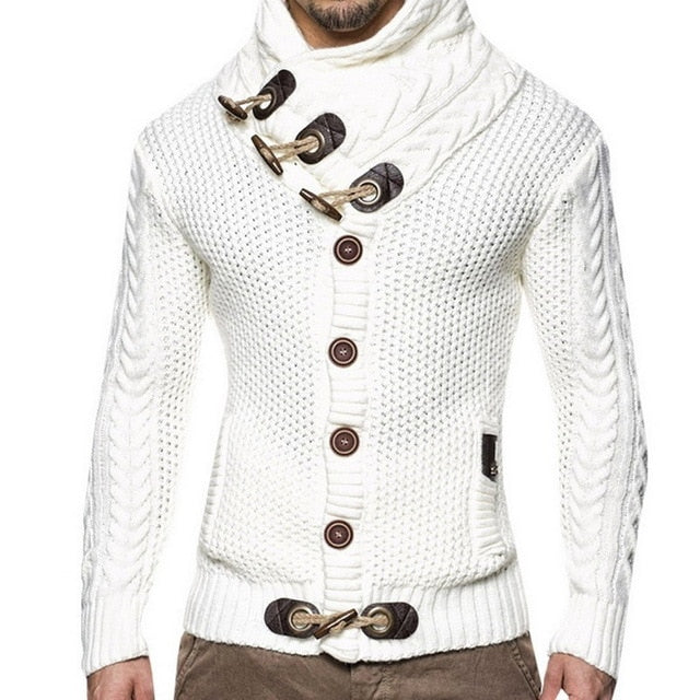 Mens Warm Cardigan Sweater