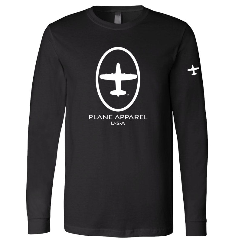 Plane Apparel Long Sleeve Logo T-Shirt