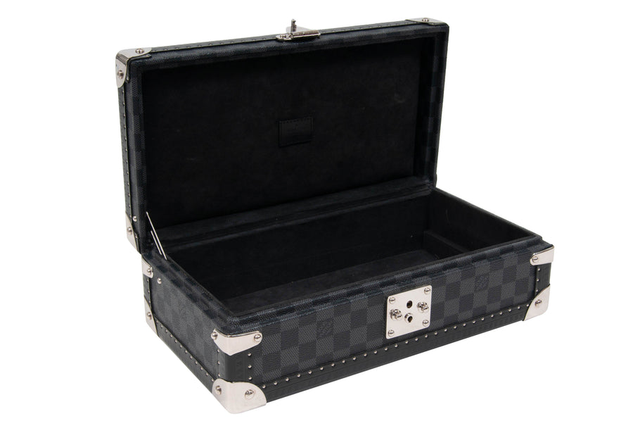 8 Watch Case Damier Graphite Case (Grey) LOUIS VUITTON