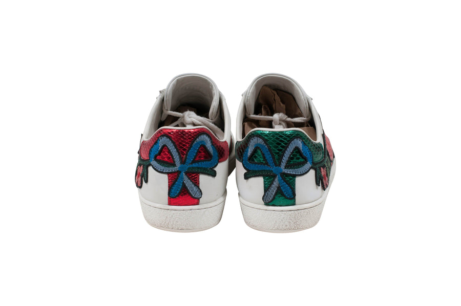 Ace Floral Embroidered Sneaker GUCCI