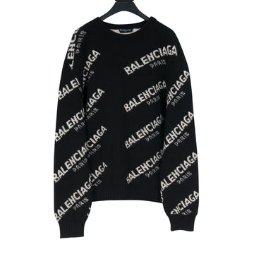 All Over Logo Print Sweater BALENCIAGA