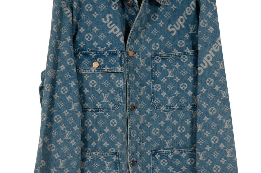 Barn Denim Jacket Louis Vuitton X Supreme