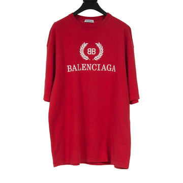 BB Logo T Shirt (Red) BALENCIAGA