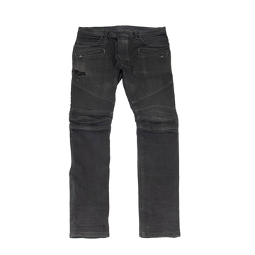 Biker Jeans (Washed Black) BALMAIN