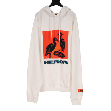 Bird Print Hoodie (Cream) Heron Preston