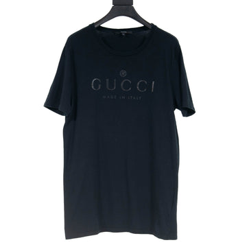 Black on Black Logo T Shirt GUCCI
