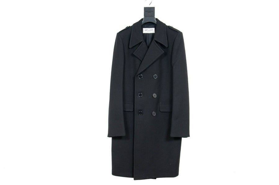 Black Overcoat SAINT LAURENT