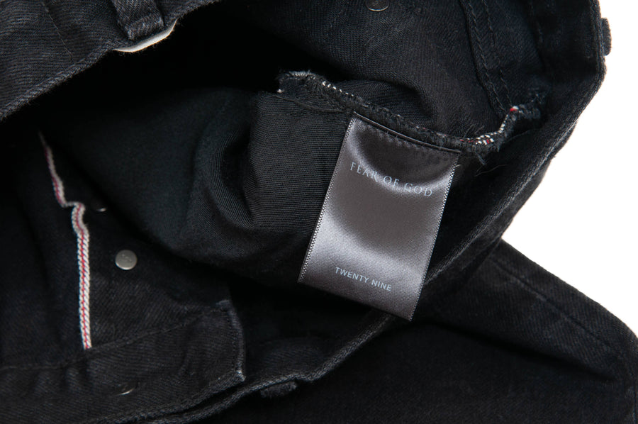 Black Selvedge Denim FEAR OF GOD