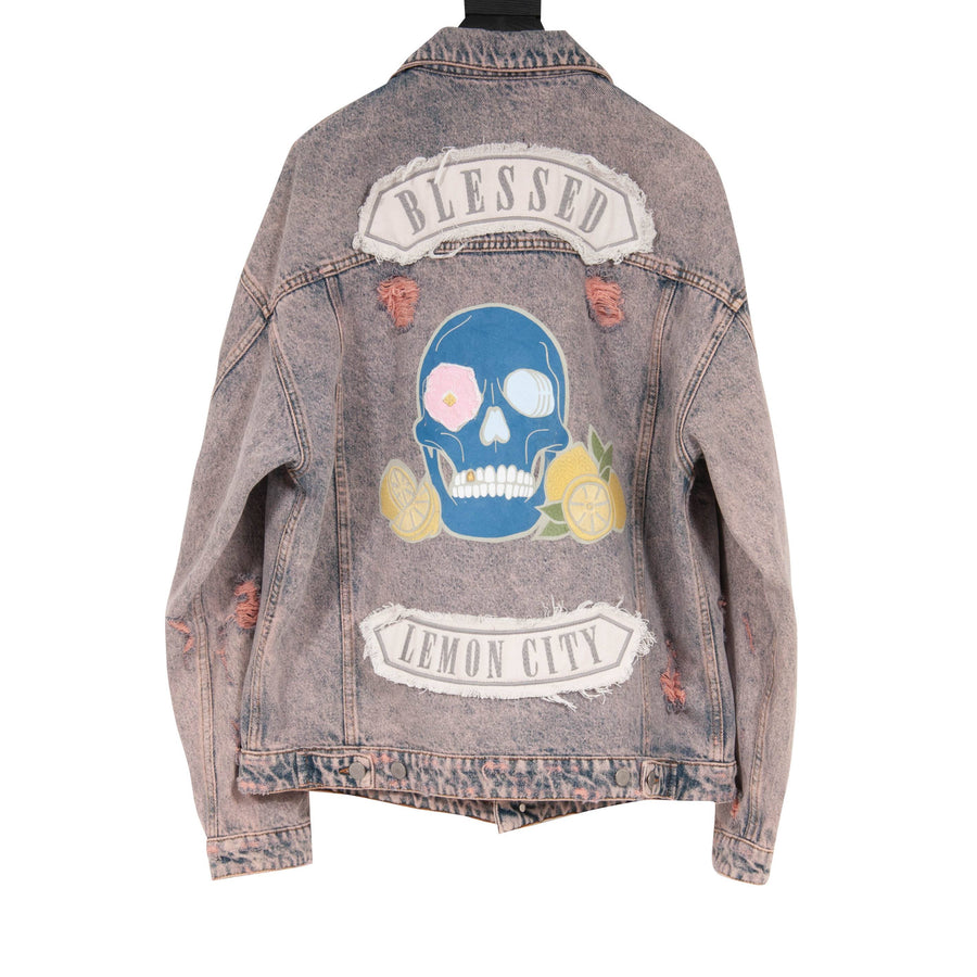 Blessed Lemon City Distressed Trucker Jacket Alchemist