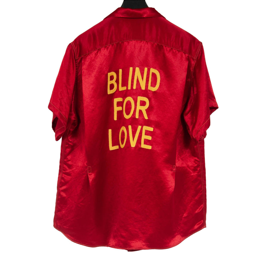Blind For Love Satin Bowling Shirt GUCCI