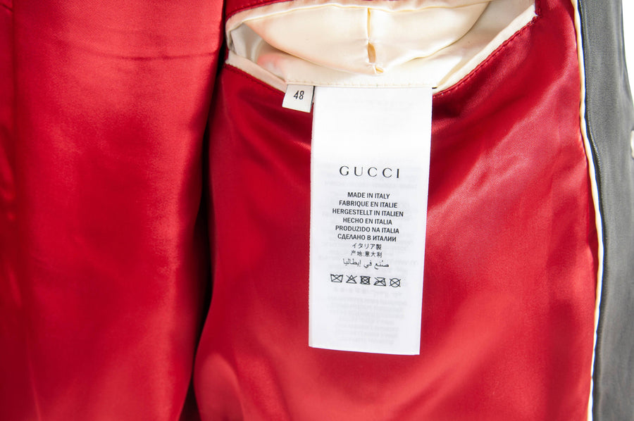 Blind For Love Varsity Bomber Jacket GUCCI