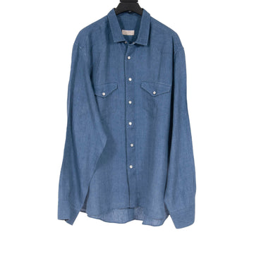 Camicia Denim Button Down 100% Capri
