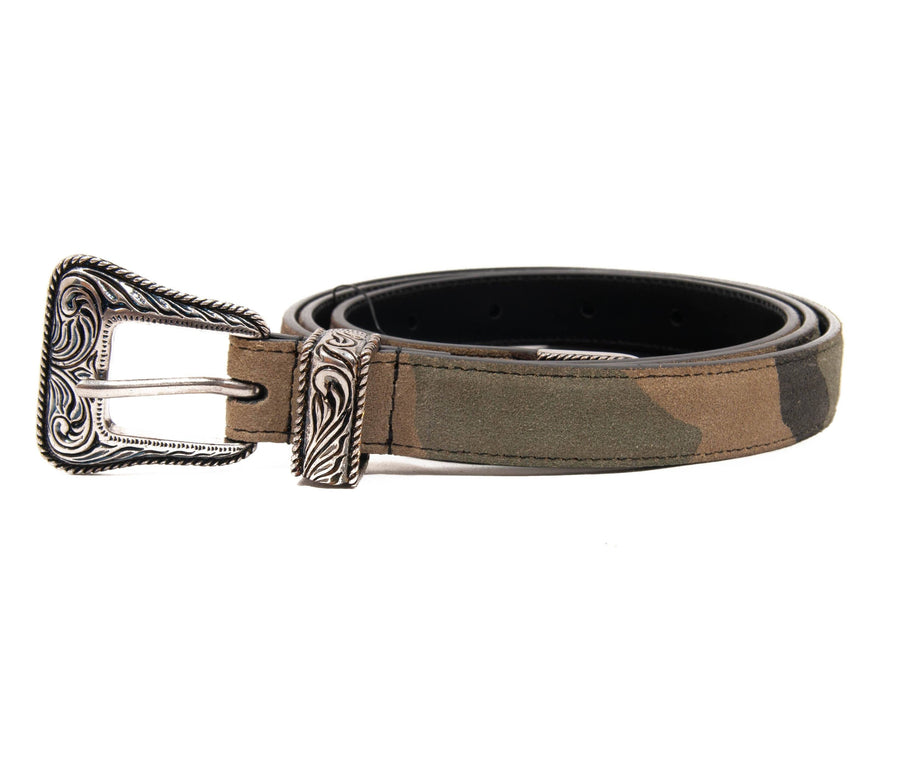 Camo Western Belt SAINT LAURENT
