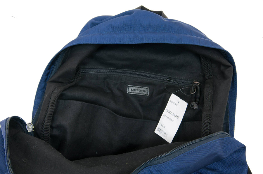 Campaign Logo Explorer Backpack (Blue) BALENCIAGA