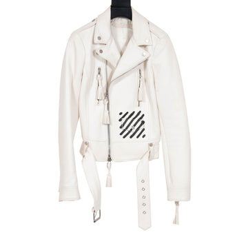 Carry Leather Jacket OFF WHITE