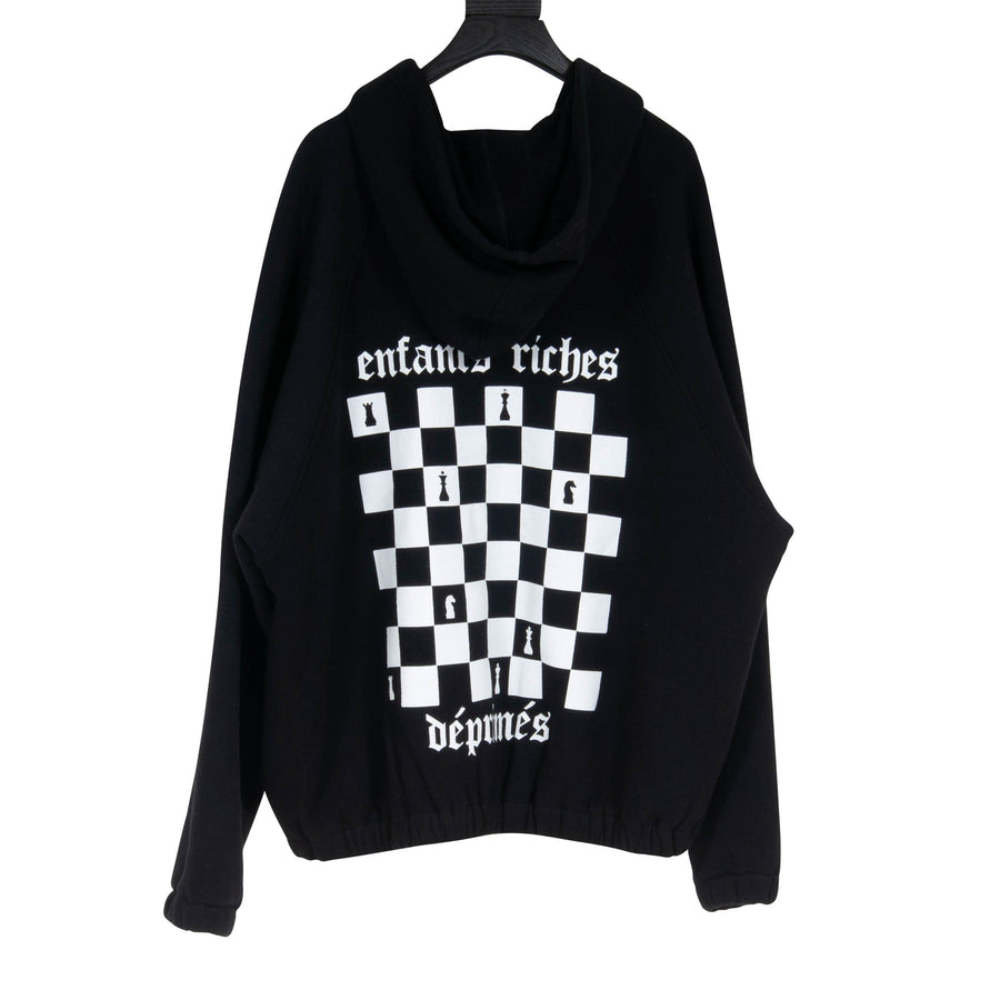 Checkered Logo Zipped Hoodie ENFANTS RICHES DÉPRIMÉS