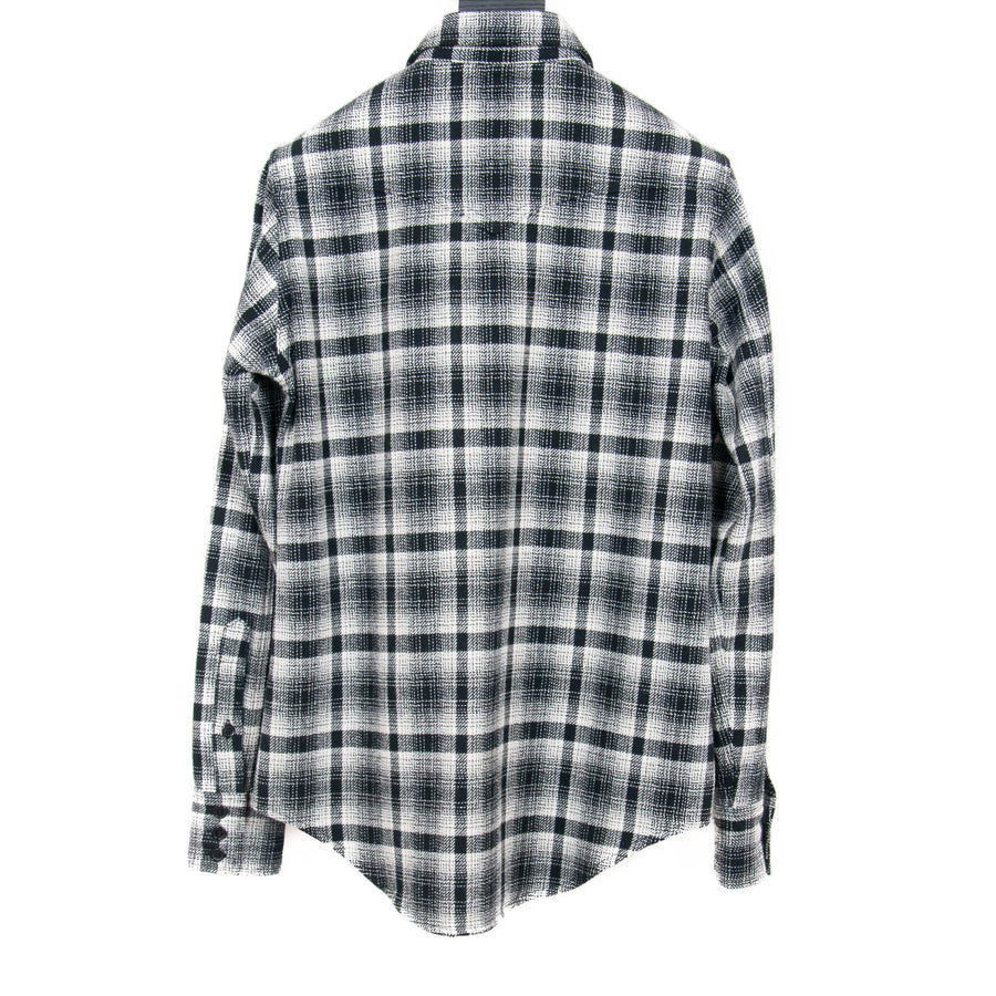 Checkered Wool Flannel Black & White SAINT LAURENT