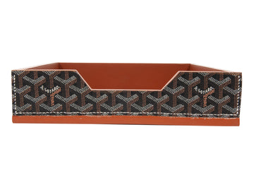 Chevron Desk Tray (Black/Brown) GOYARD