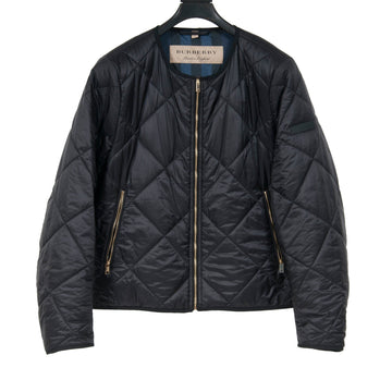 Collarless Diamond Quilted Lightweight Bomber Jacket Burberry