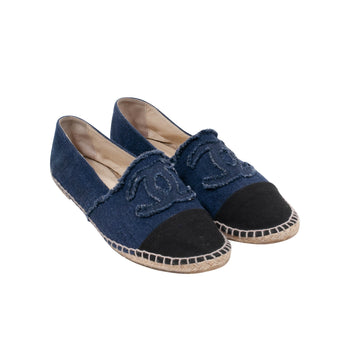 Denim Logo Espadrilles CHANEL