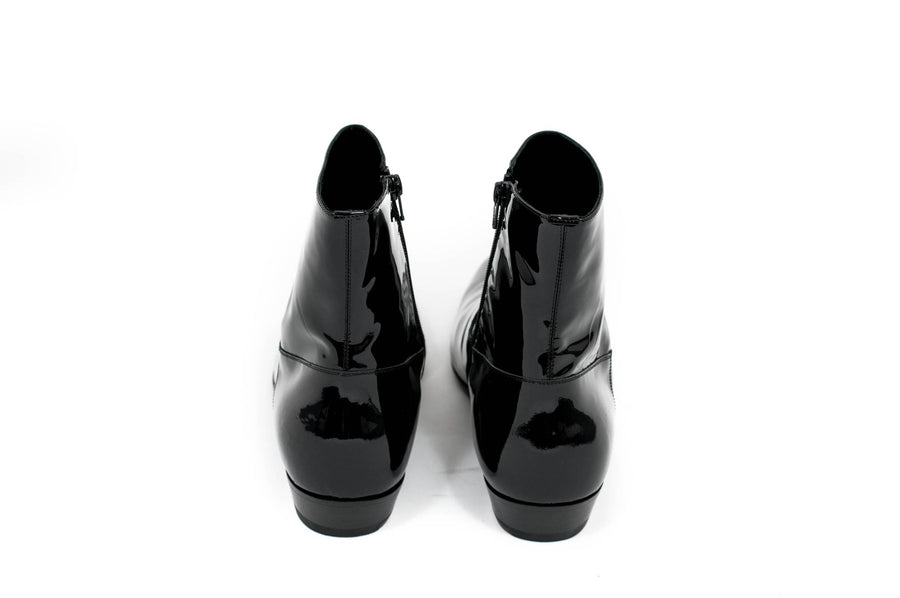 Devon Patent Leather Boots SAINT LAURENT