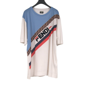 Diagonal Logo T Shirt Fendi