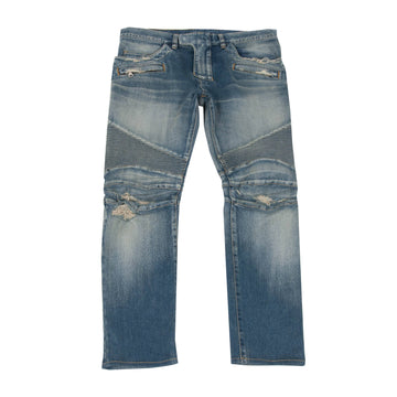Distressed Biker Jeans BALMAIN