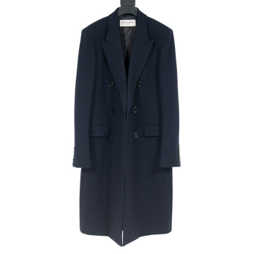 Double Breasted Coat (Navy) SAINT LAURENT