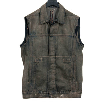 DRKSHDW Sleeveless Denim Jacket RICK OWENS