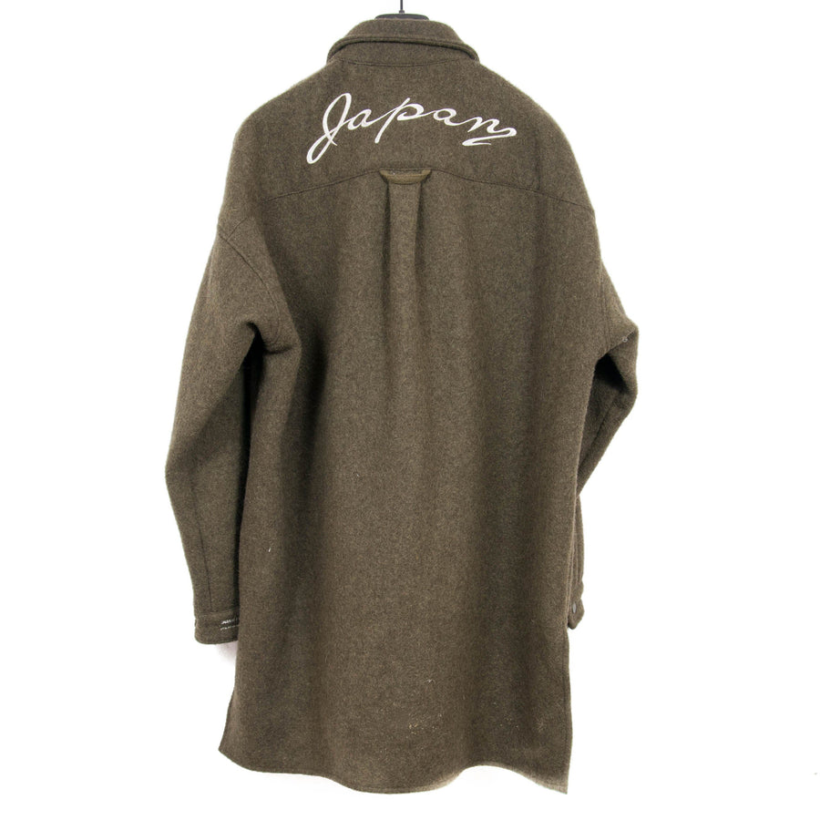 Embroidered Oversized Wool Shirt READYMADE