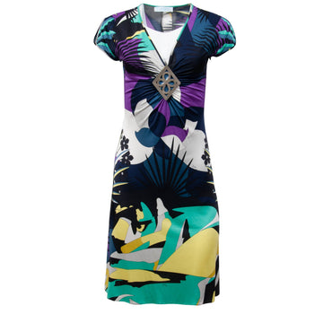 Flower Printed Mini Dress (Purple) EMILIO PUCCI