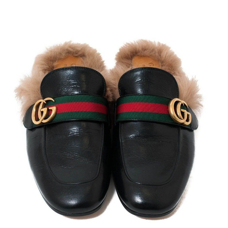 Fur Princetown Slippers GUCCI
