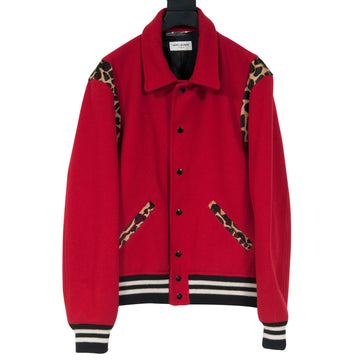 FW14 Red Leopard Teddy Jacket SAINT LAURENT