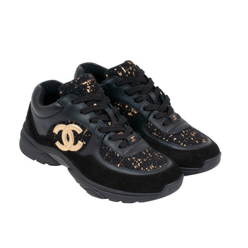 FW19 Sneaker (Black/Gold) CHANEL
