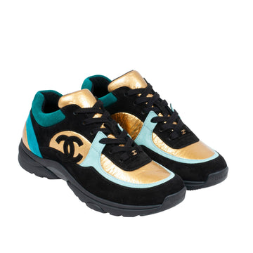 FW19 Sneaker (Black/Gold/Blue) CHANEL