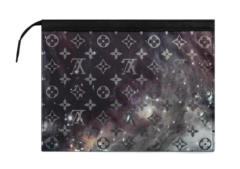 Galaxy Black Pochette Voyage MM Pouch Monogram LV Logo Pouch Bag LOUIS VUITTON