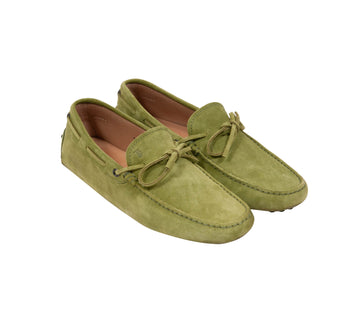 Gommino Suede Driving Loafers (Lime Green) Tod's
