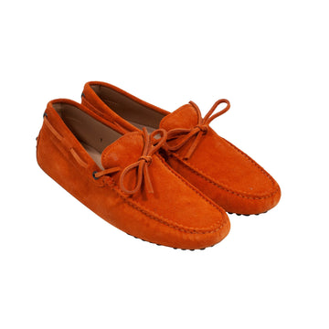 Gommino Suede Driving Shoes - Loafers (Orange) Tod's