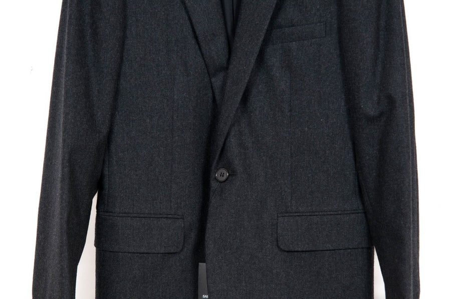 Gray Peak Lapel Blazer SAINT LAURENT