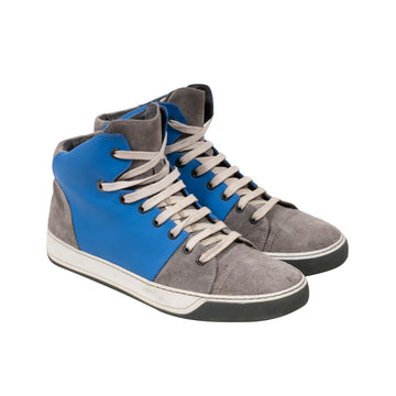 High Top Sneakers (Gray/Blue) Lanvin