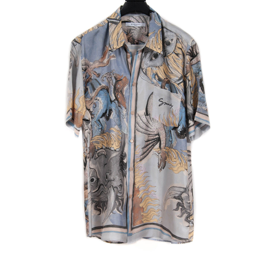 Icarus Silk Printed Hawaiian Shirt GIVENCHY