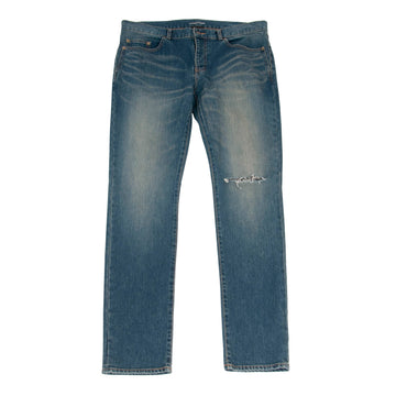 Knee Slashed Denim (Medium Indigo) SAINT LAURENT